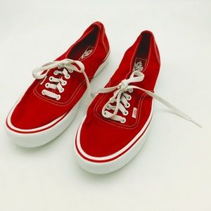 Men's Red Ultra Cush Low Top Vans Sneakers Size 11
